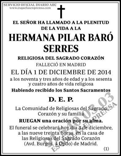 Hermana Pilar Baró Serres
